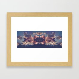 Nude sunset woman Framed Art Print
