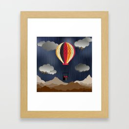 Balloon Aeronautics Rain Framed Art Print