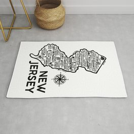New Jersey Map  Rug