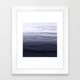 WITHIN THE TIDES BLUE Framed Art Print