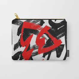 Black and red Carry-All Pouch