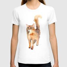 Ginger Fluffy Cat T-shirt