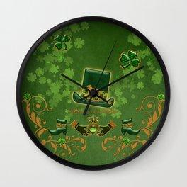 Happy st. patricks day Wall Clock