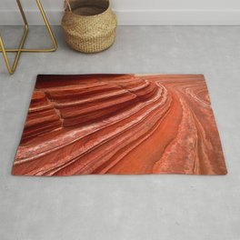 View From Deep Inside Arizona's Majestic Wave Canyons Rug