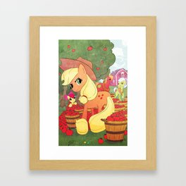 Applejack and Family Framed Art Print