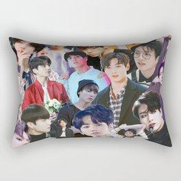 Jungkook BTS collage Rectangular Pillow
