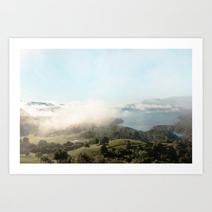 Lake Tarawera Art Print