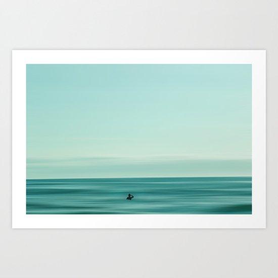 Man in the sea Art Print