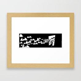 The Bats Come Home Framed Art Print