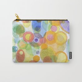 Vividly interacting Circles Ovals and Free Shapes Carry-All Pouch