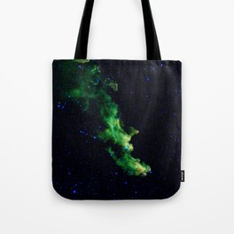 Galaxy: Green Witch's Head Nebula Tote Bag