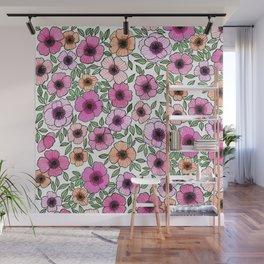 Poppy Pattern Wall Mural