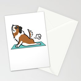 Saint Bernard Yoga Pose Stationery Cards
