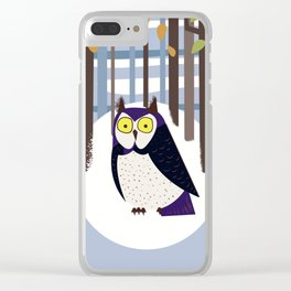 Owl in the Forest Clear iPhone Case