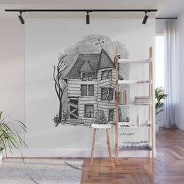 Rundown Haunted House Wall Mural