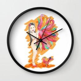 Feather Fan Wall Clock