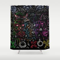 games Shower Curtains featuring Mind Games  by Bwilly Bwightt