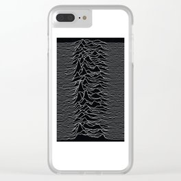 Unknown Radio Waves - Unknown Pleasures Clear iPhone Case