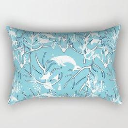 Nautical Toile de Jouy Light Blue  Rectangular Pillow