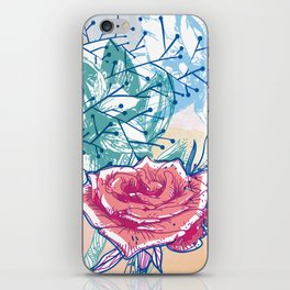 Blossoming rose iPhone Skin