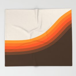 Golden Horizon Diptych - Right Side Throw Blanket