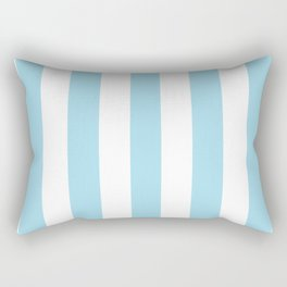 Non-photo blue - solid color - white vertical lines pattern Rectangular Pillow