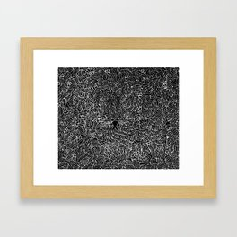 Owl in a Coma Framed Art Print
