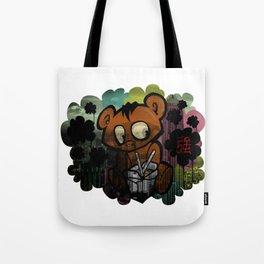 Abstract Graffiti Bear Tote Bag