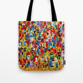 Laberinto multicolor Tote Bag
