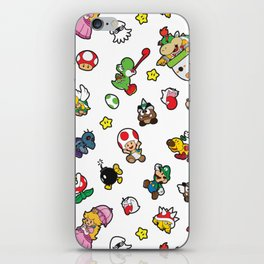 It's a really SUPER Mario pattern! iPhone Skin