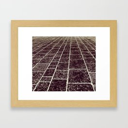 texture of the old stone paving Framed Art Print