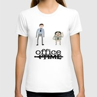 the office T-shirts featuring Office Time by Al's Visions