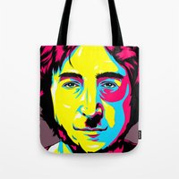 leon Tote Bags featuring Leon Mozes by shizoy