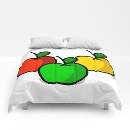 Apple Trio | Veronica Nagorny Comforters