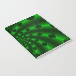Tess Fractal in Magical Emerald Green Notebook