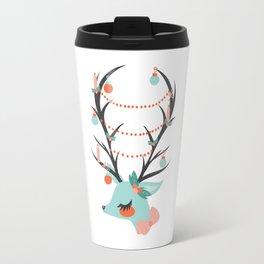 Retro Reindeer Travel Mug
