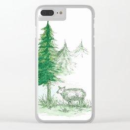 Sheep Farm Clear iPhone Case