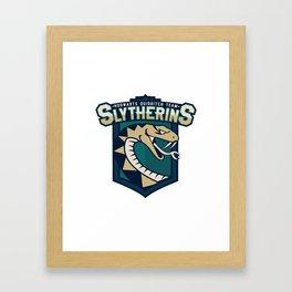 Hogwarts Quidditch Teams - Slytherin Framed Art Print