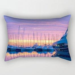 Sunrise in Antibes Rectangular Pillow