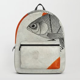 Goldfish with a Shark Fin Backpack