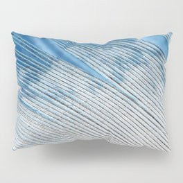 Feathers | White and Blue Feather Tip | Spirit | Nadia Bonello Pillow Sham
