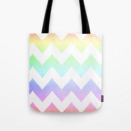 Watercolor Chevrons Tote Bag