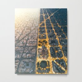 Light & Dark Metal Print