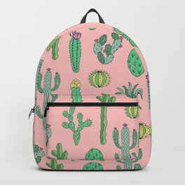 Cactus Pattern Pink Backpack