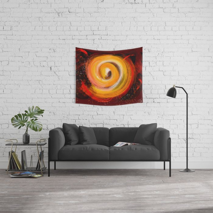 Sun burst in the galaxy Wall Tapestry
