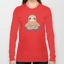 Kawaii Cute Yoga Sloth Long Sleeve T-shirt