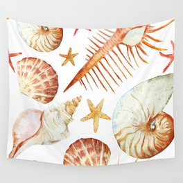 Sea Life Pattern 09 Wall Tapestry