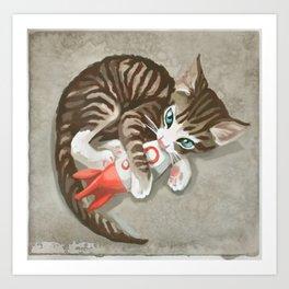 Fallout - Rocket Kitten Art Print