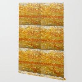 Landscape Dots - Orange Wallpaper