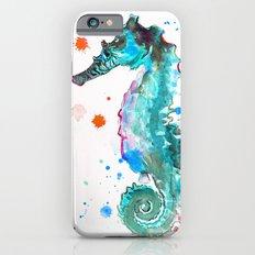 Blue Seahorse iPhone 6s Slim Case